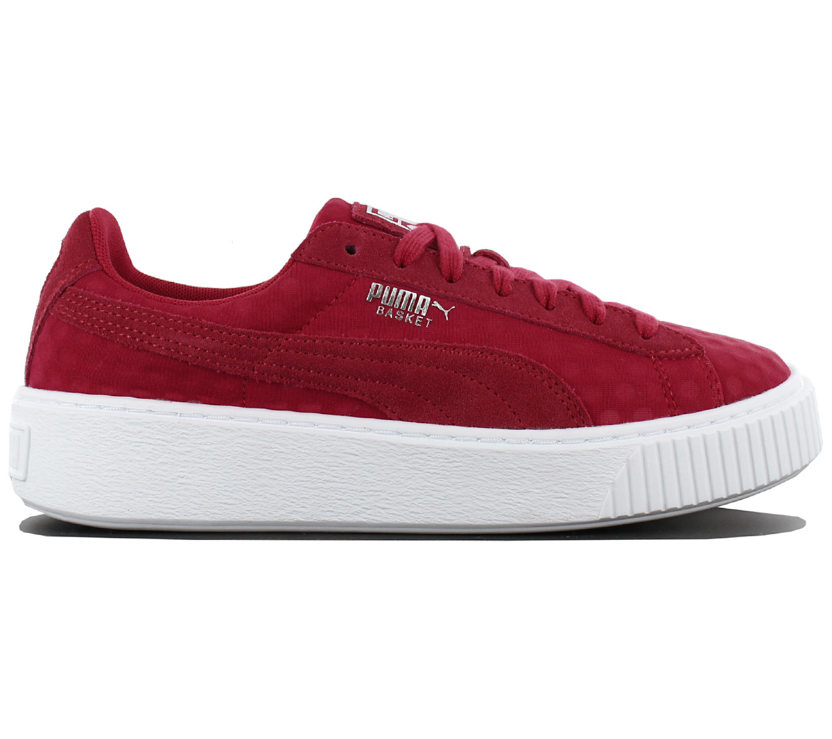 Puma Basket Platform Ladies Sneaker Shoes Red Sneakers Leisure ... d212e4abe