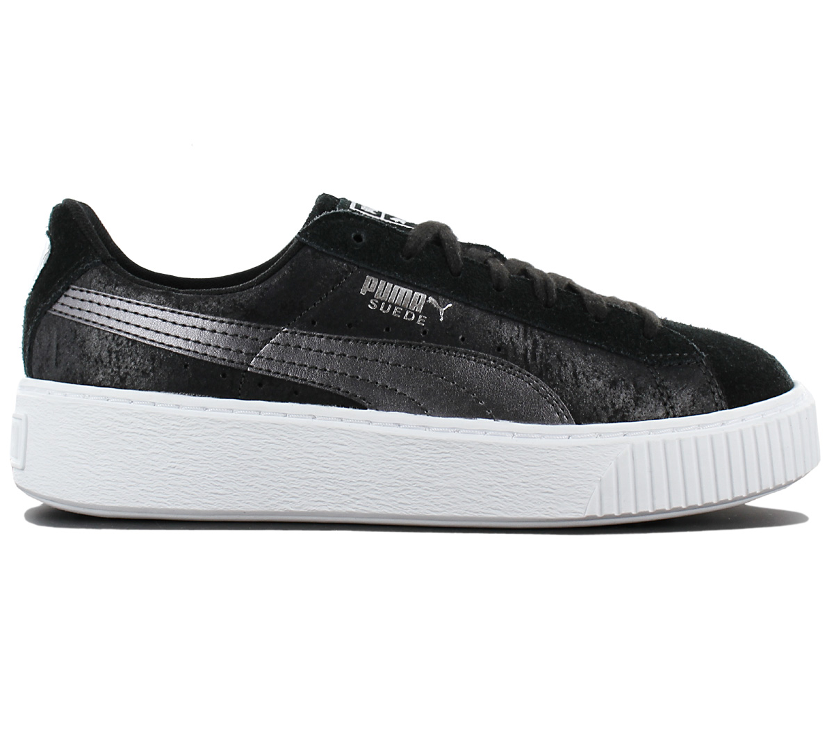 Puma Suede Platform Safari Wns Black White Women Casual Shoes Sneakers 364594 03