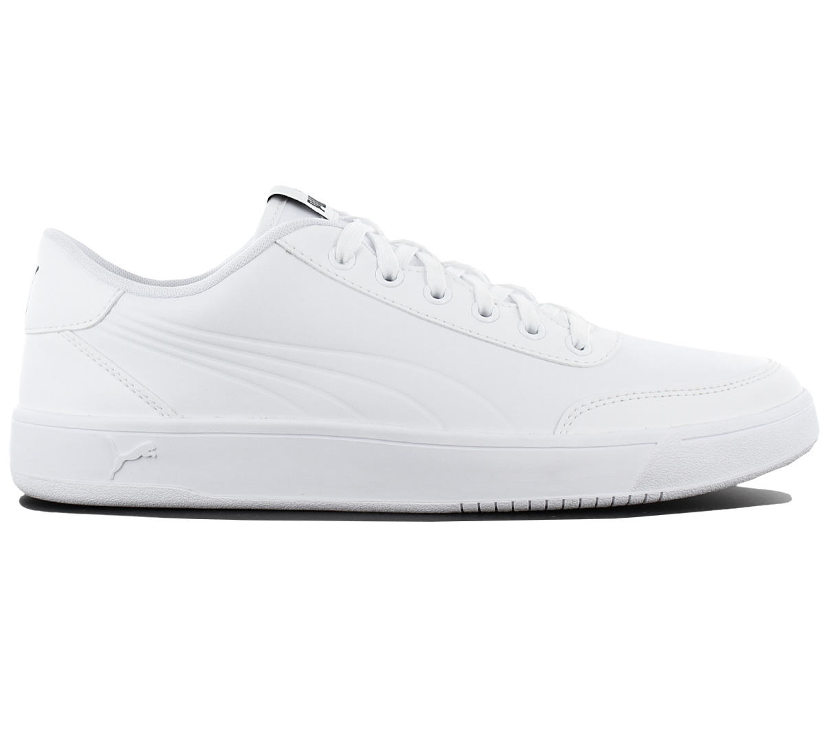 Puma Court Breaker L Mono Herren Sneaker Schuhe Leder Weiß ... cab76d3808