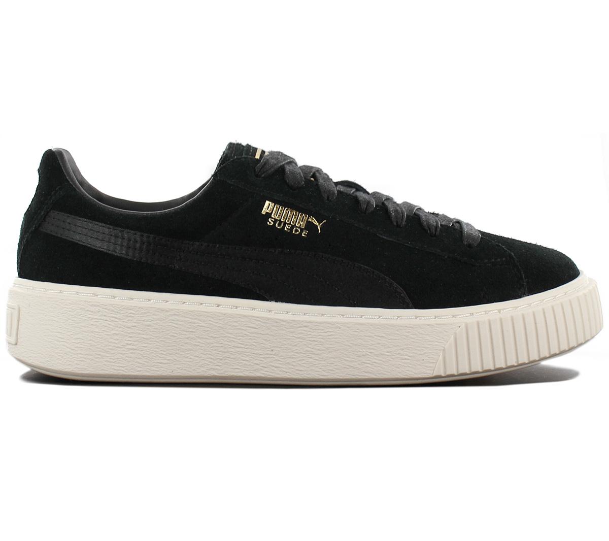 27693e21481 Puma Gamuza De Plataforma Zapatos tenis de cuero de satén señoras ...