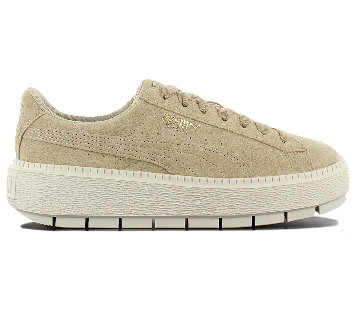 new product c41bf f1720 Puma Platform Trace Ladies Sneaker Shoes 365830-02 Leather Beige ...