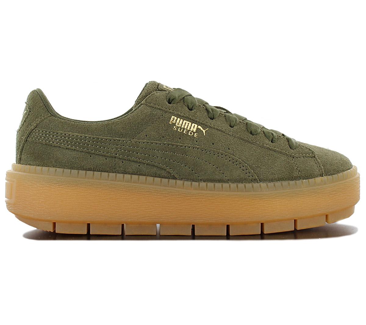 best service 84371 30e3b Details about Puma Platform Trace Women's Sneaker 365830-03 Green Platform  Trainers New
