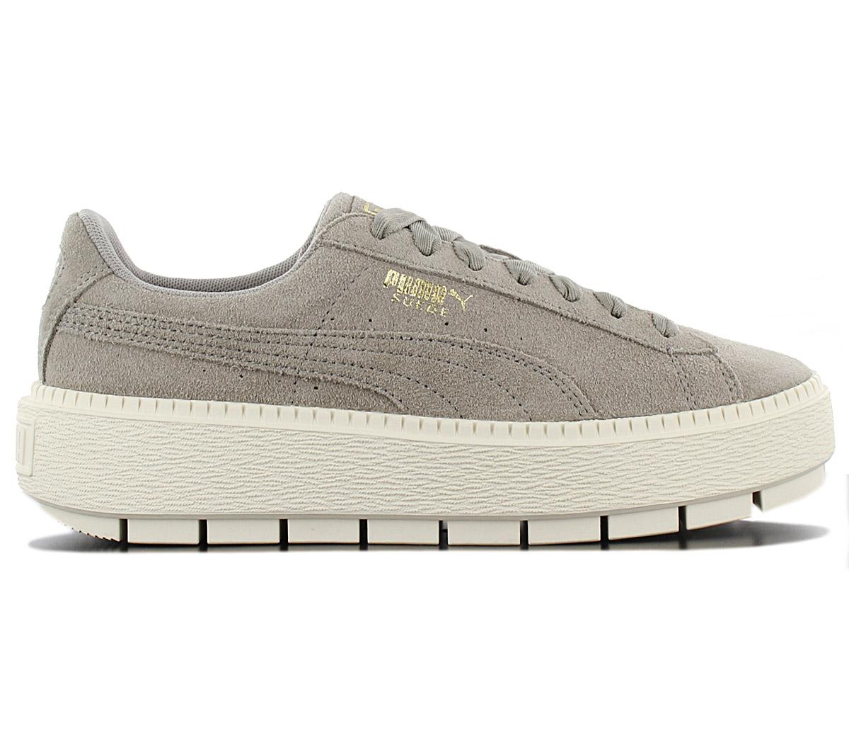 3a22e3a557 Puma Platform Trace Ladies Sneaker Shoes 365830-06 Grey Platform Gym ...
