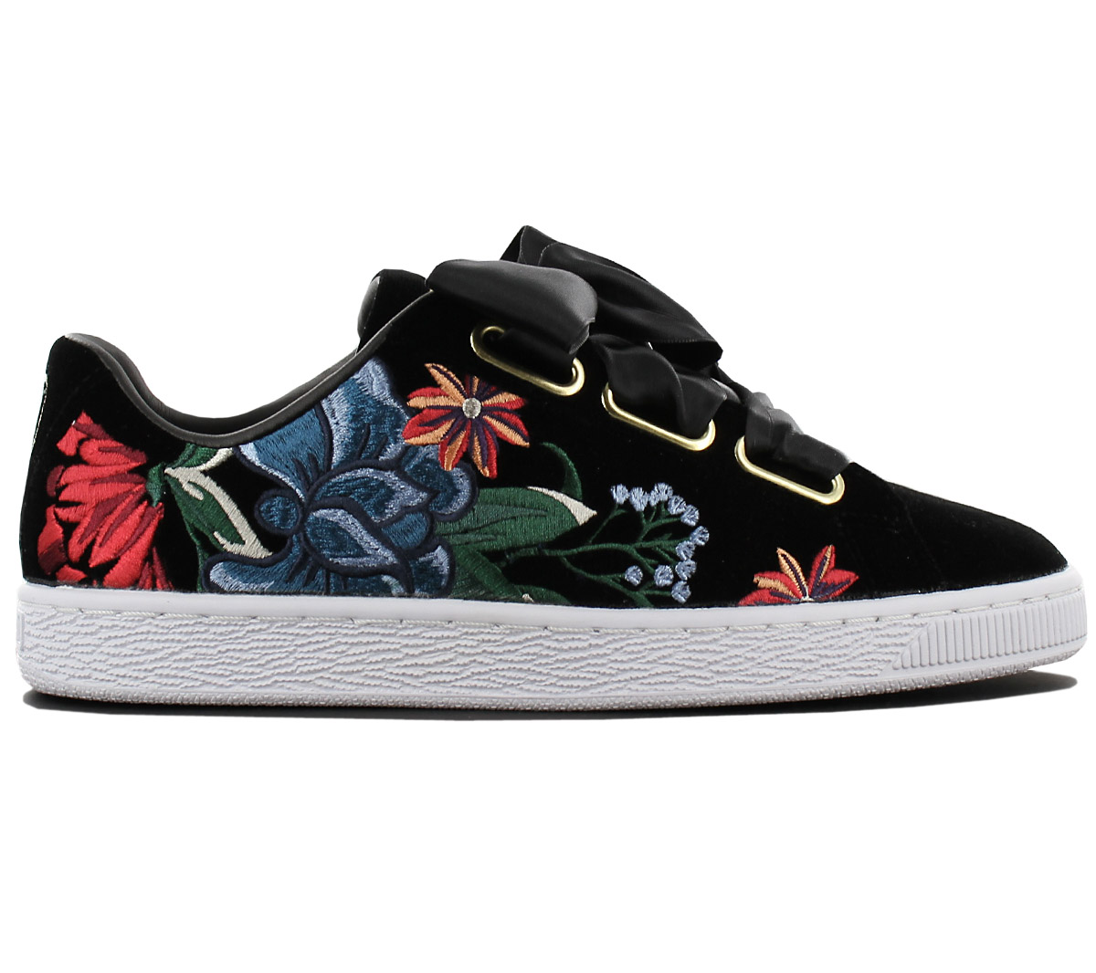 purchase cheap b5e2c 5c936 Details about Puma Basket Heart Hyper Flower Emb Women's Sneaker Shoes  Sneakers 366116-01 New