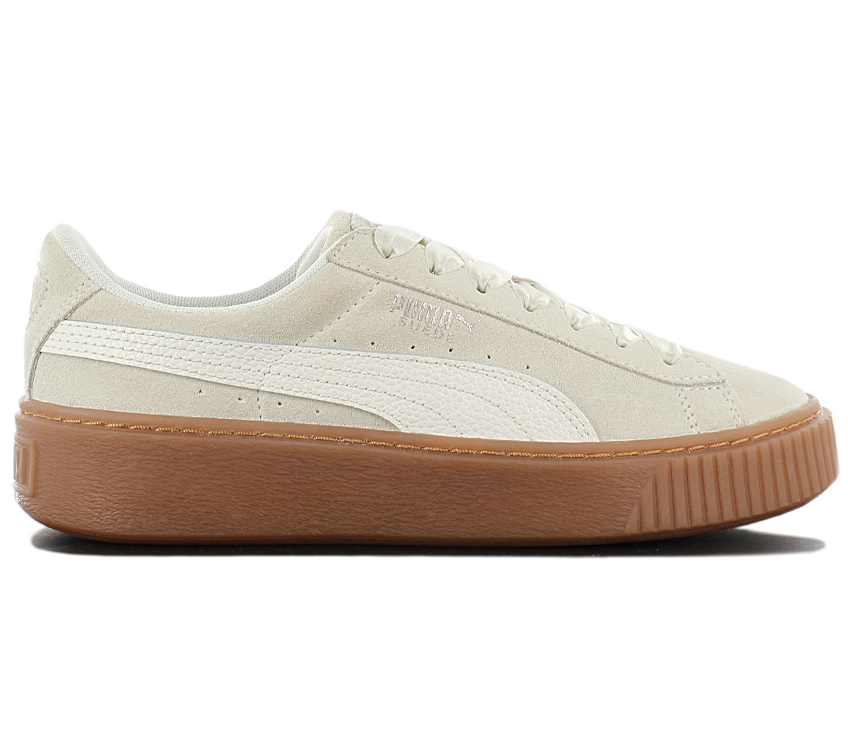 low priced 3323c 3cad5 Details about Puma Suede Platform Bubble Women's Sneaker Shoes 366439-02  Beige Trainers New