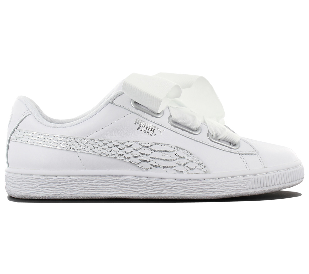 1878d0b71d Puma Basket Heart Oceanaire Women s Sneakers Leather Shoes White ...