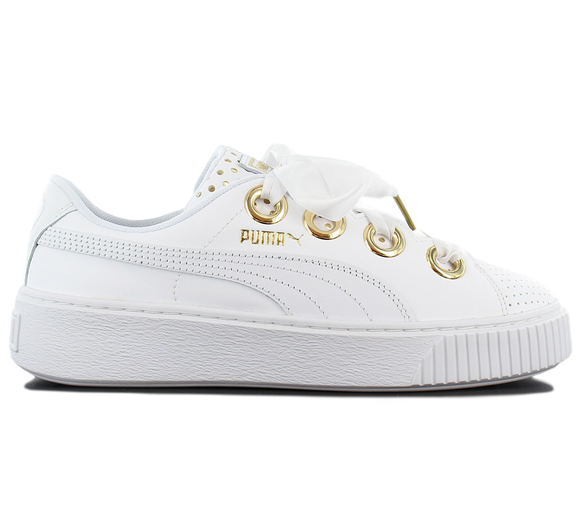 Details about Puma Platform KISS ATH Lux Sneaker Womens Shoes Leather White 366704 01 Sneakers show original title