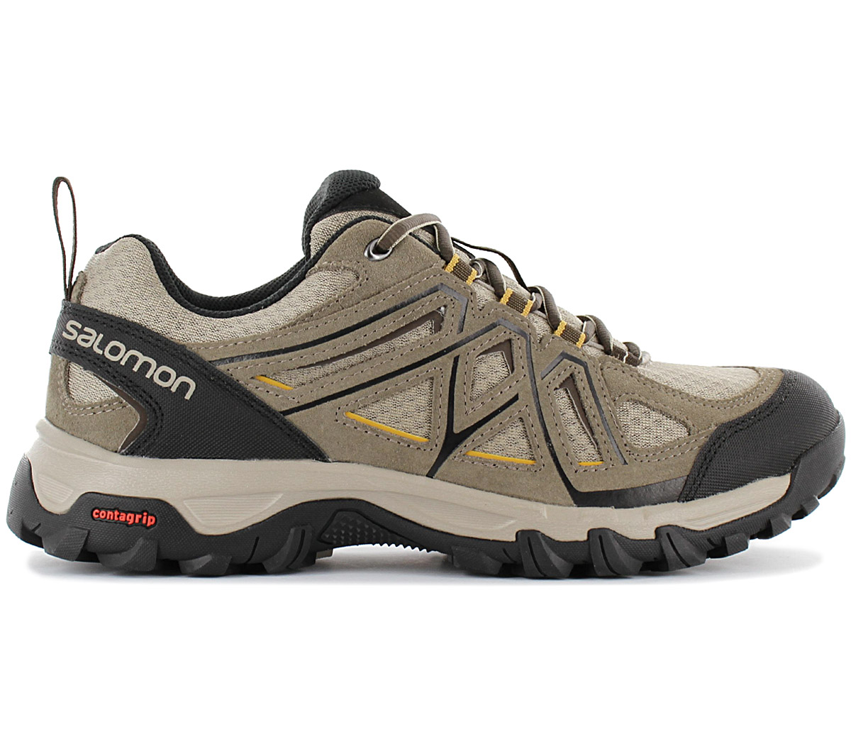 Details about Salomon Evasion 2 Aero Men's Hiking Shoes 393599 Beige Trekking Shoes New