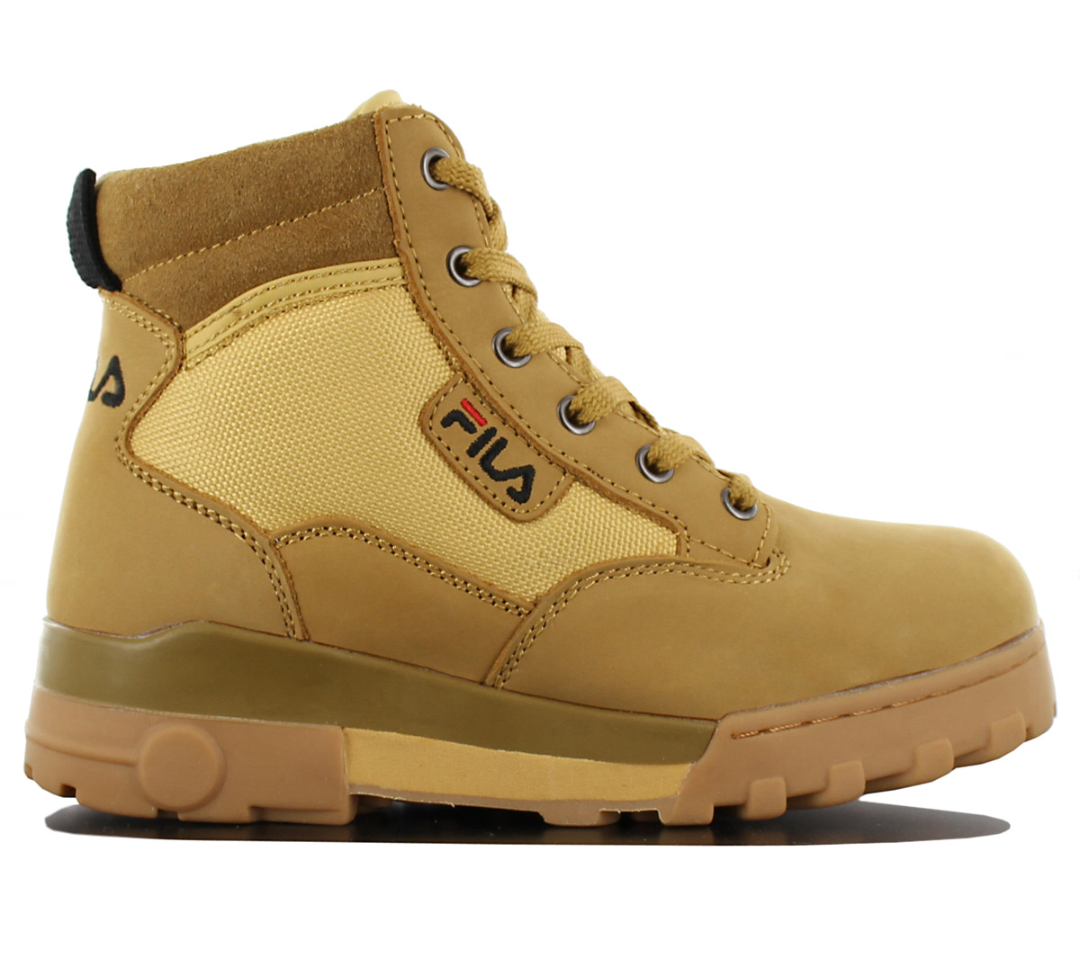 Details about Fila Grunge mid Women's Ladies Winter Boots Shoes Leather  4010281.EDU Chipmunk
