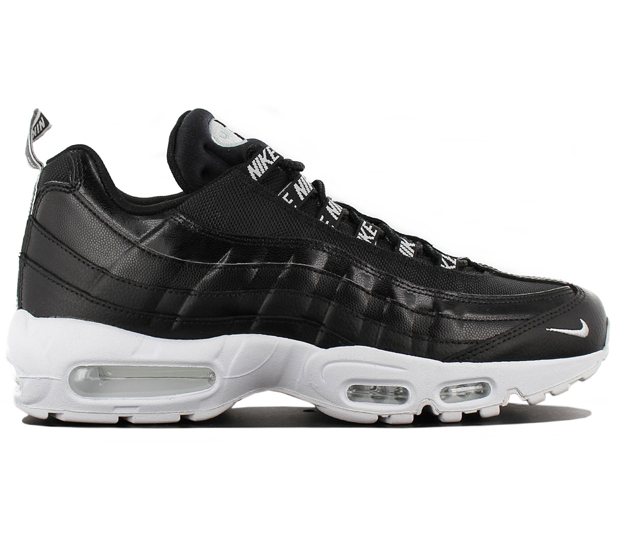 Details about Nike Air Max 95 Premium Men's Sneakers Shoes Black 538416 020 Gym Shoe New