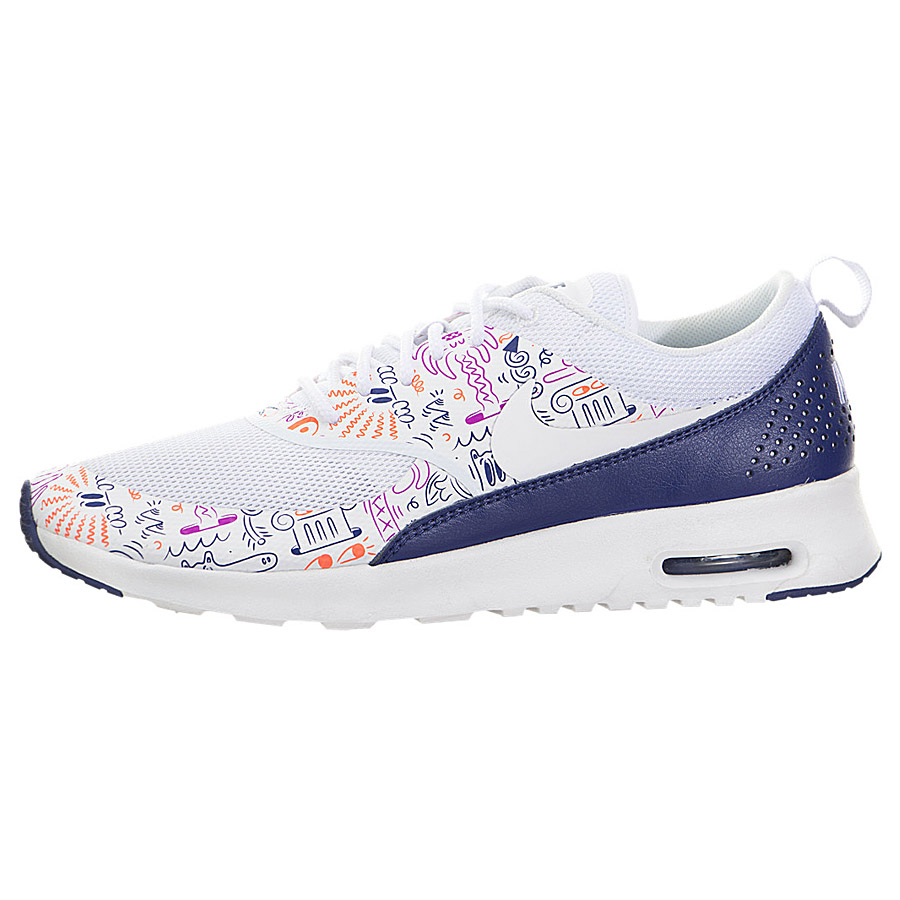 online store 26b52 c2cdd WMNS Nike Air Max Thea Print White Navy Womens Running Trainers Shoes 599408-104  UK 4.5. About this product. Picture 1 of 5  Picture 2 of 5 ...