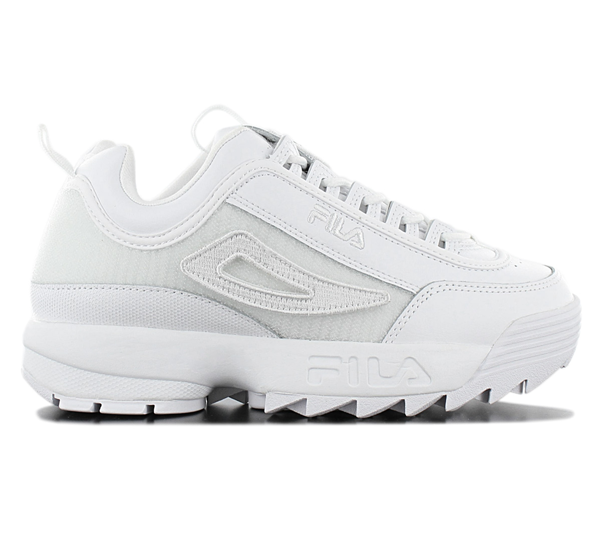 Details about Fila Disruptor Low II Patches Women's Sneaker 5FM00538.100 White Fashion Shoes