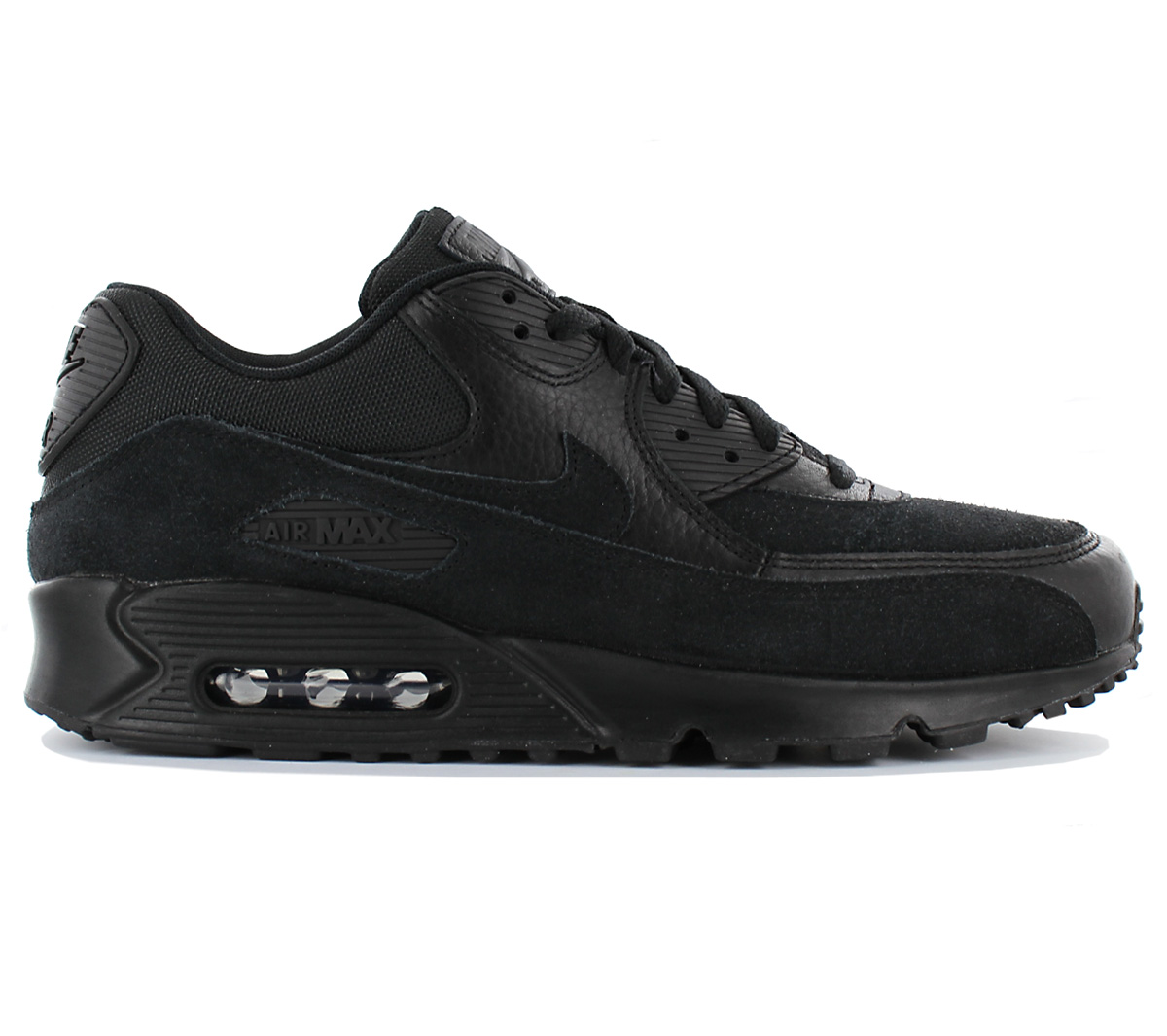 Details about Nike Air Max 90 Leather Premium Men's Shoes Sneaker Black 700155 012 New
