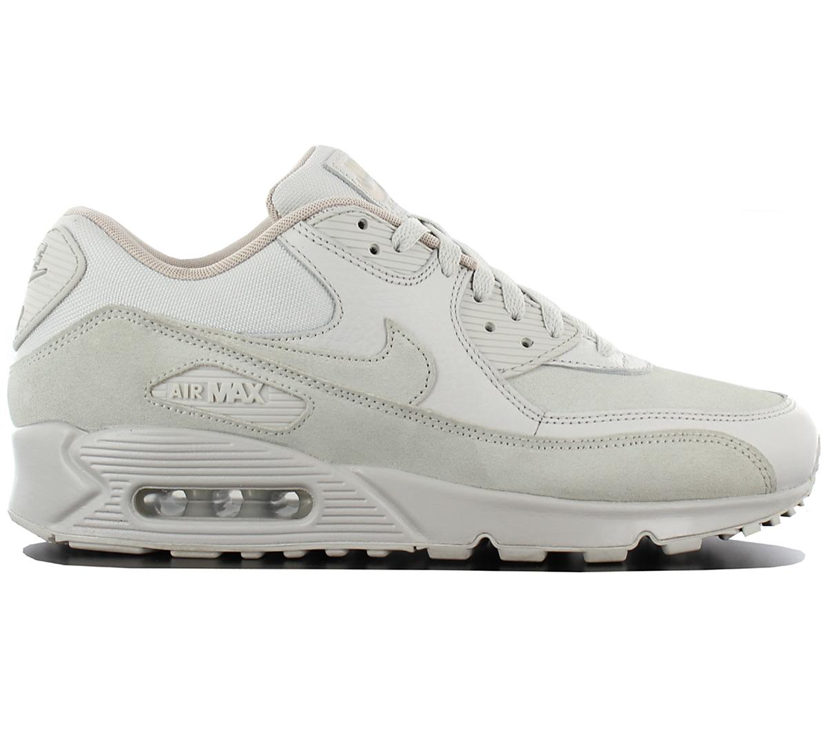 Details about Nike Air Max 90 Leather Premium Men's Sneaker Light Bone 700155 013