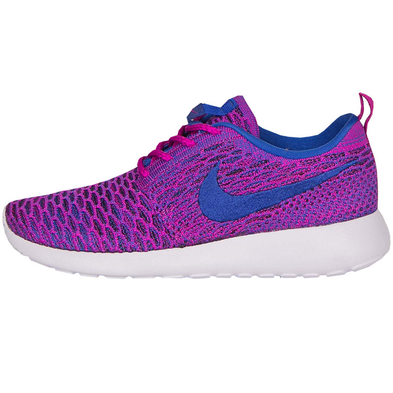 NIKE WMNS ROSHE ONE FLYKNIT SHOES SNEAKERS Leisure Purple Run 704927-501 NEW