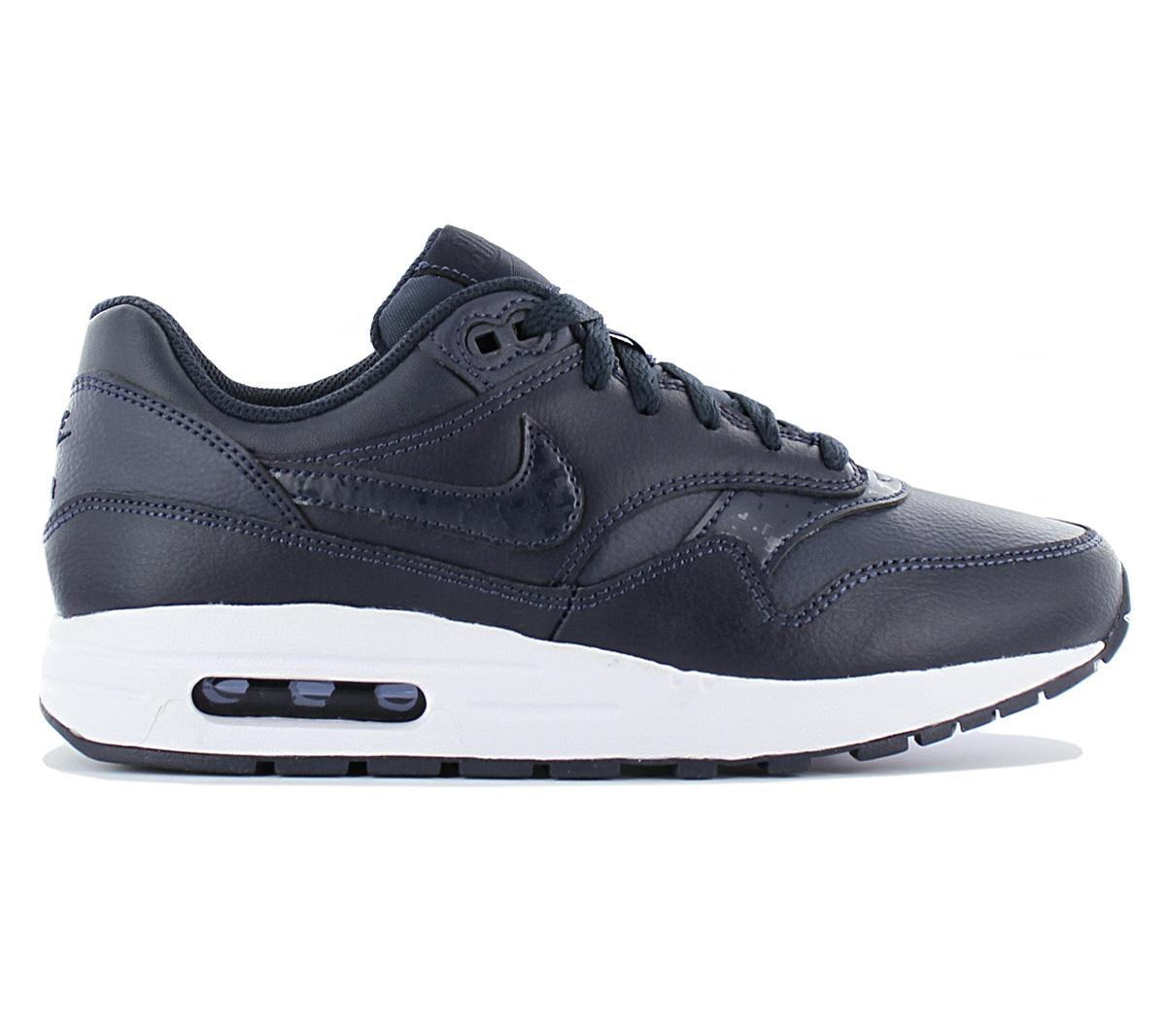 Details zu Nike Air Max 1 Leather Damen Sneaker Schuhe 807602 402 Leder Blau Turnschuhe NEU