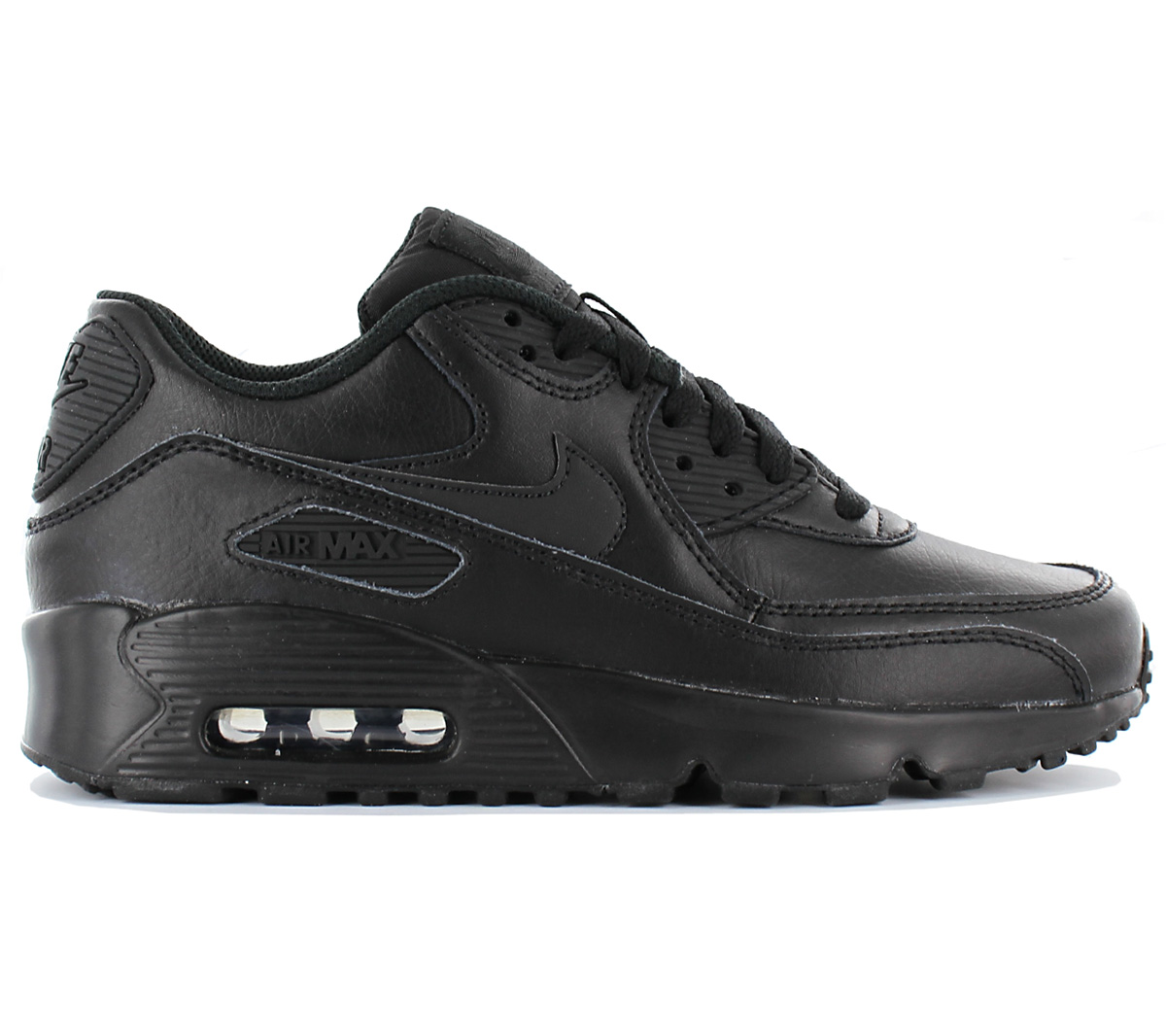 wholesale dealer 6b3ba 806a4 Nike Air Max 90 Leather Ladies Sneaker Shoes Leather Black 833412 ...