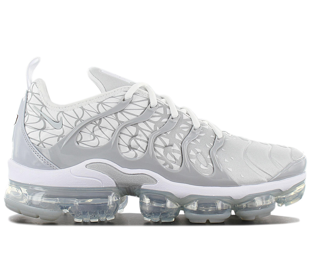 hot sale online 789d7 edf8c Details about Nike Air Vapormax plus TN Men's Sneakers 924453-106 White  Silver Shoes Trainers
