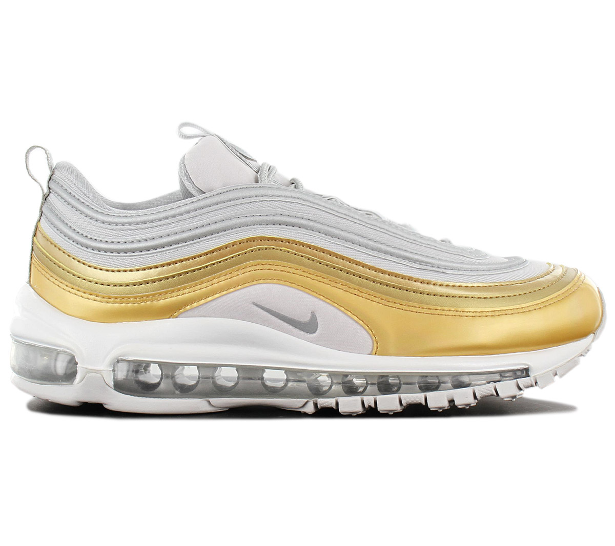 quality design bc869 9dd4f Nike Air Max 97 Se Special Edition Women s Sneakers Silver-Gold ...