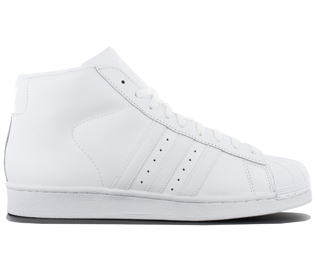 low priced d7cf8 22a18 Details about Adidas Superstar pro Model Men's Sneaker Leather White mid  Shoe Sneaker AQ5217