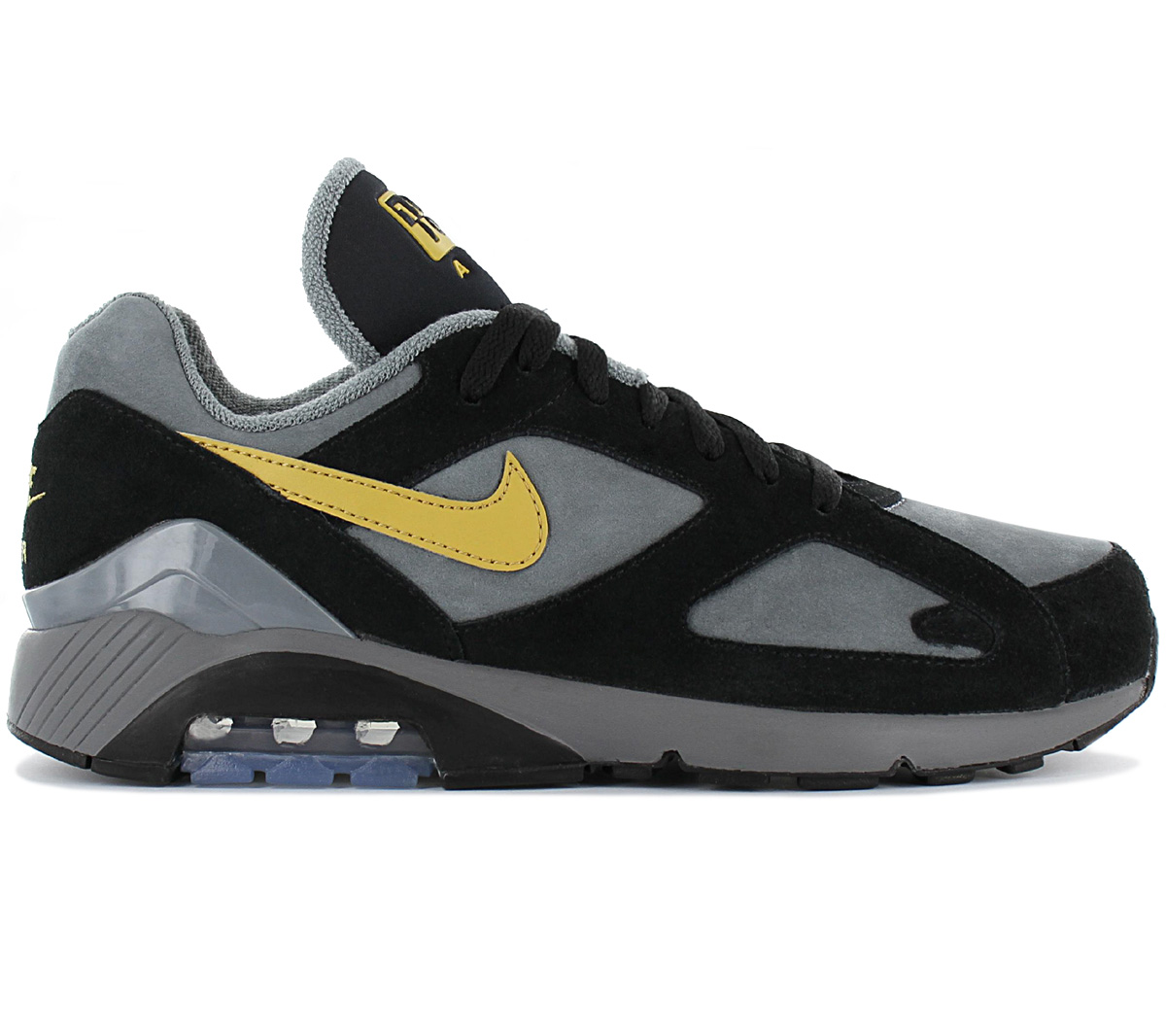 Details about Nike air max 180 Sneaker AV7023 001 Leather Gray Fashion Shoes Leisure Shoe