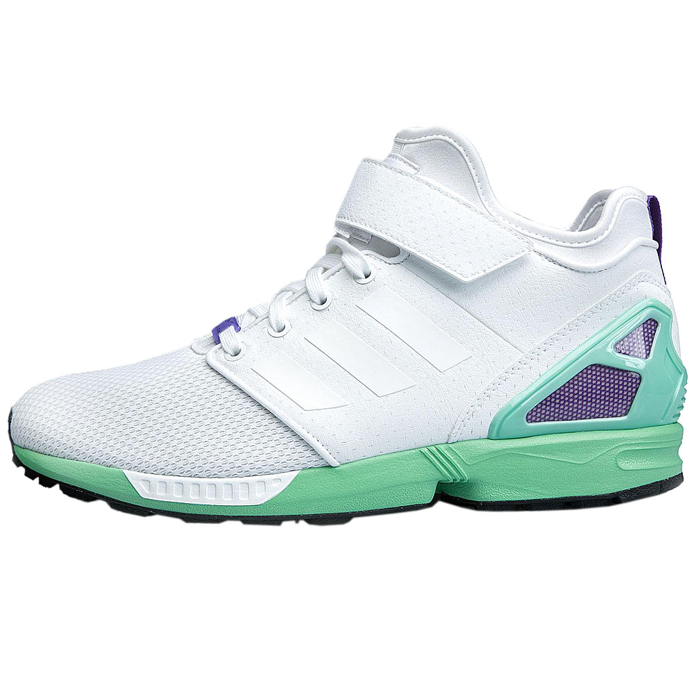 baa185c73 Adidas Originals Zx Flux Nps mid Shoe White Women s Sneaker Trainers ...