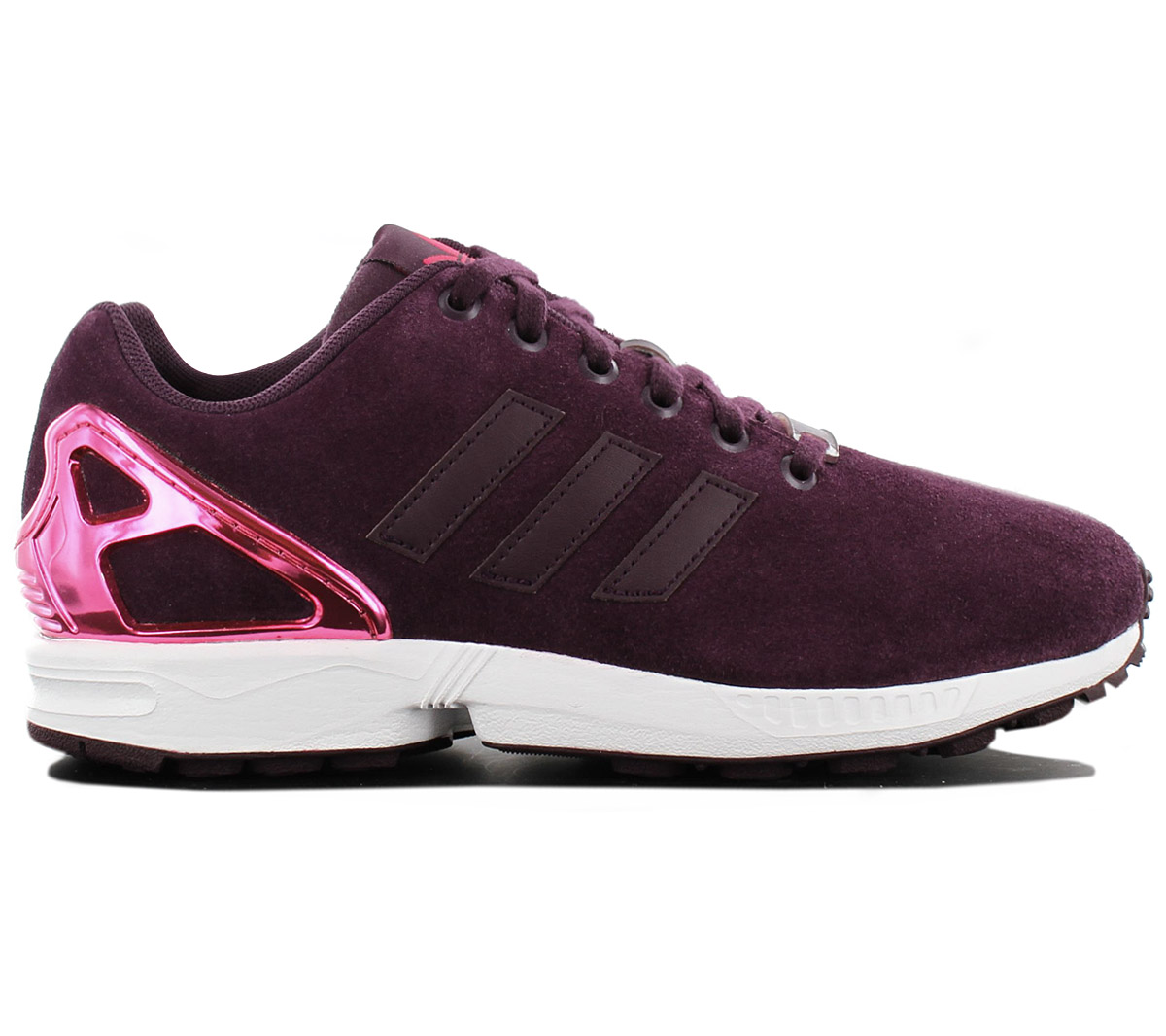 sports shoes 4c5ca 1ad86 Details about Adidas Zx Flux W Women's Sneaker Leather Purple B35320  Sneakers