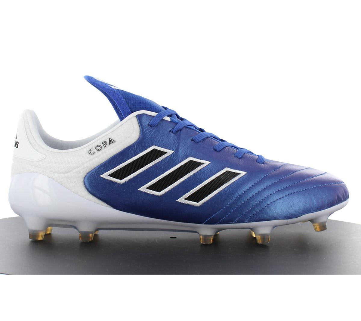 Détails sur Adidas Copa 17.1 Fg Hommes Chaussures Cuir Bleu Crampons Mundial BA8516 Neuf
