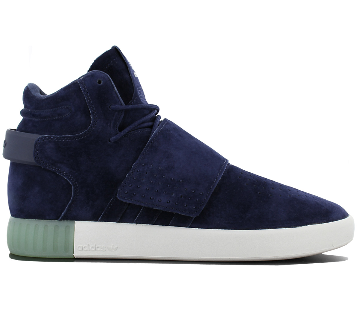 Adidas Originals Tubular Invader Strap Leather Blue Men s Shoes ... aed48bce3
