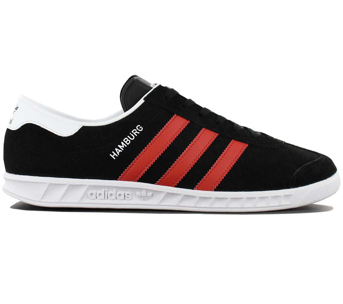 adidas Originals Hamburg Herren Turnschuhe Sneaker Schuhe Leder Retro Turnschuhe Herren Freizeit cae49f