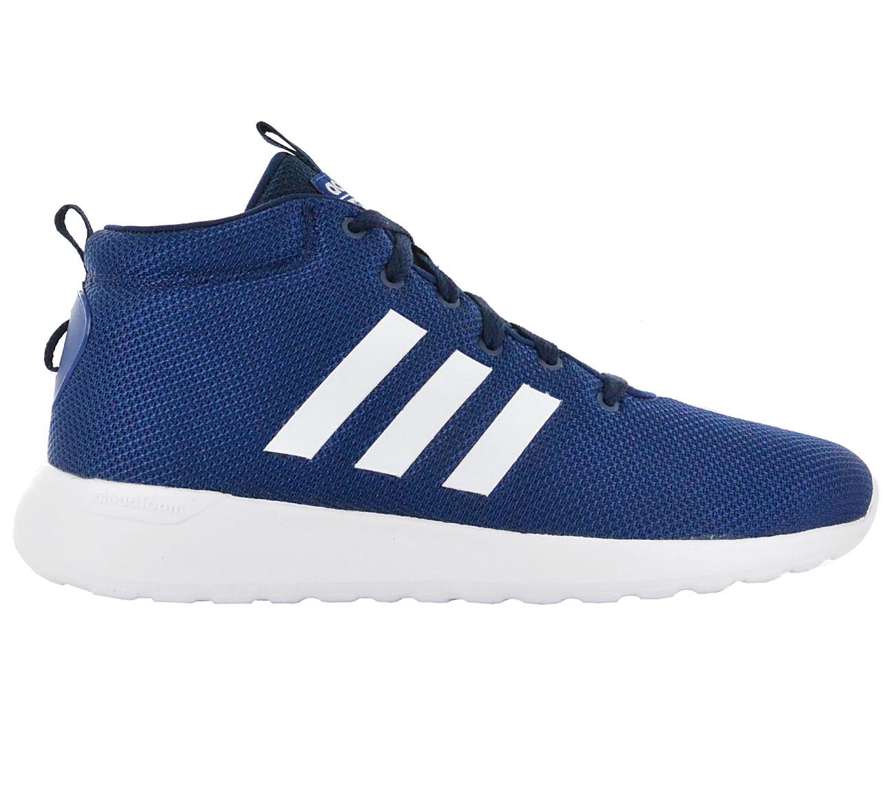 Scarpe adidas uomini cloudfoam lite racer metà di scarpe blu.