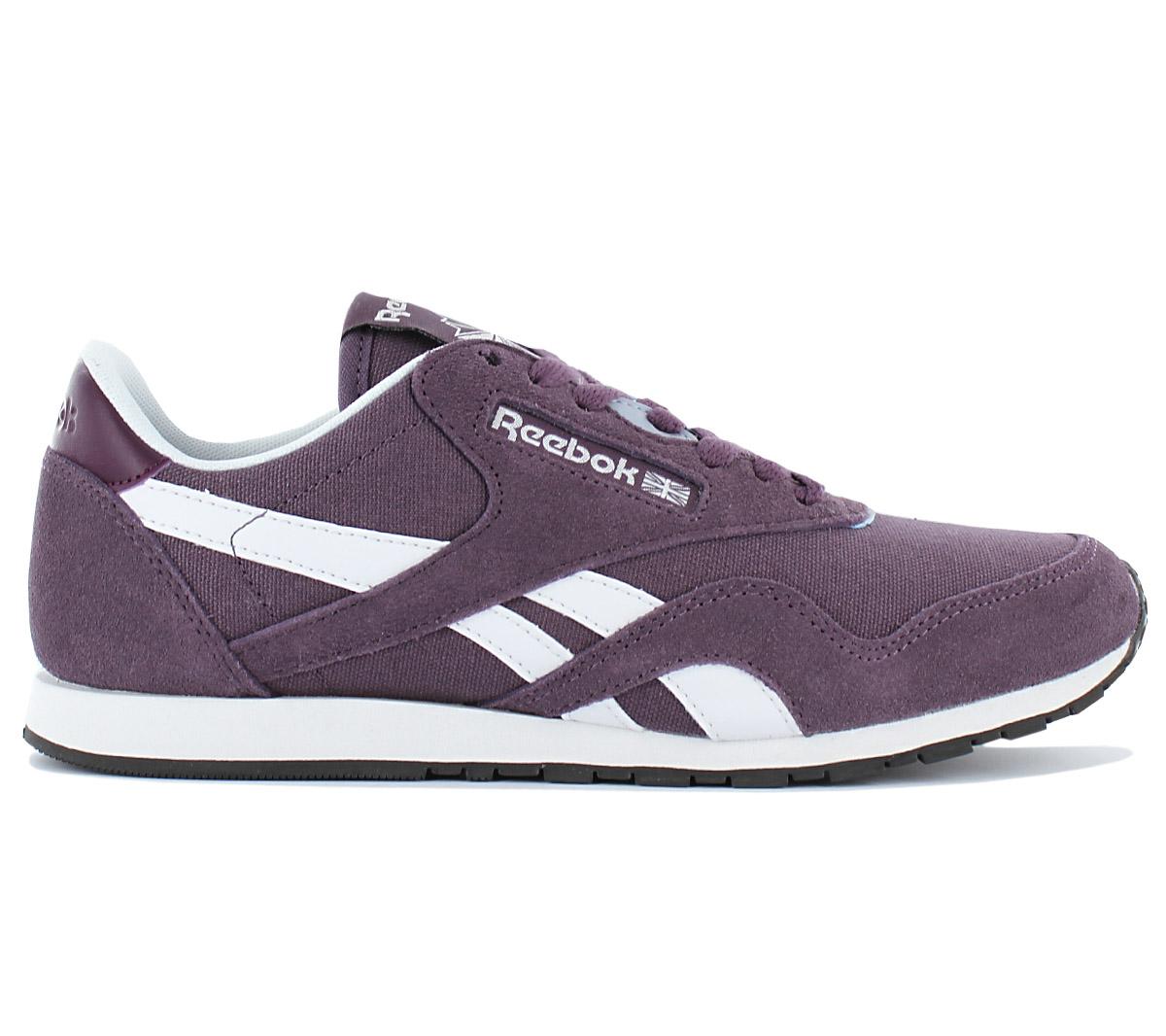 Details about Reebok Classic Nylon Slim Cv Women's Sneaker Shoes Purple Trainers Retro BD1786