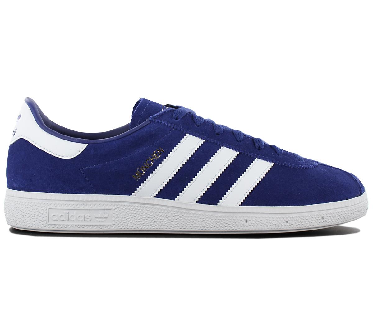 Detalles acerca de Adidas Originals Munich Para Hombre de Cuero Tenis Zapatos Zapatillas Azul BY9787 mostrar título original