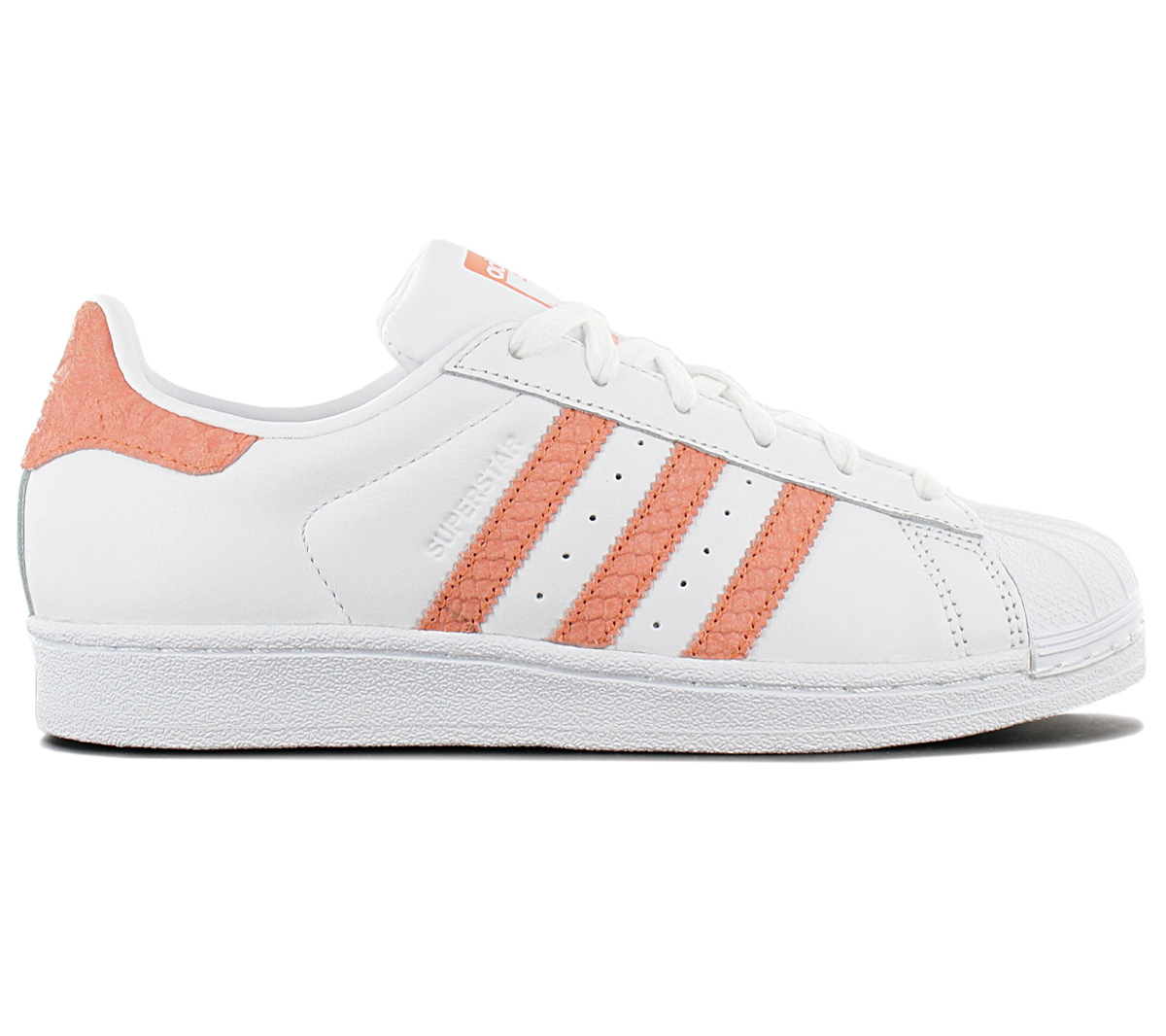 adidas Superstar W shoes white orange