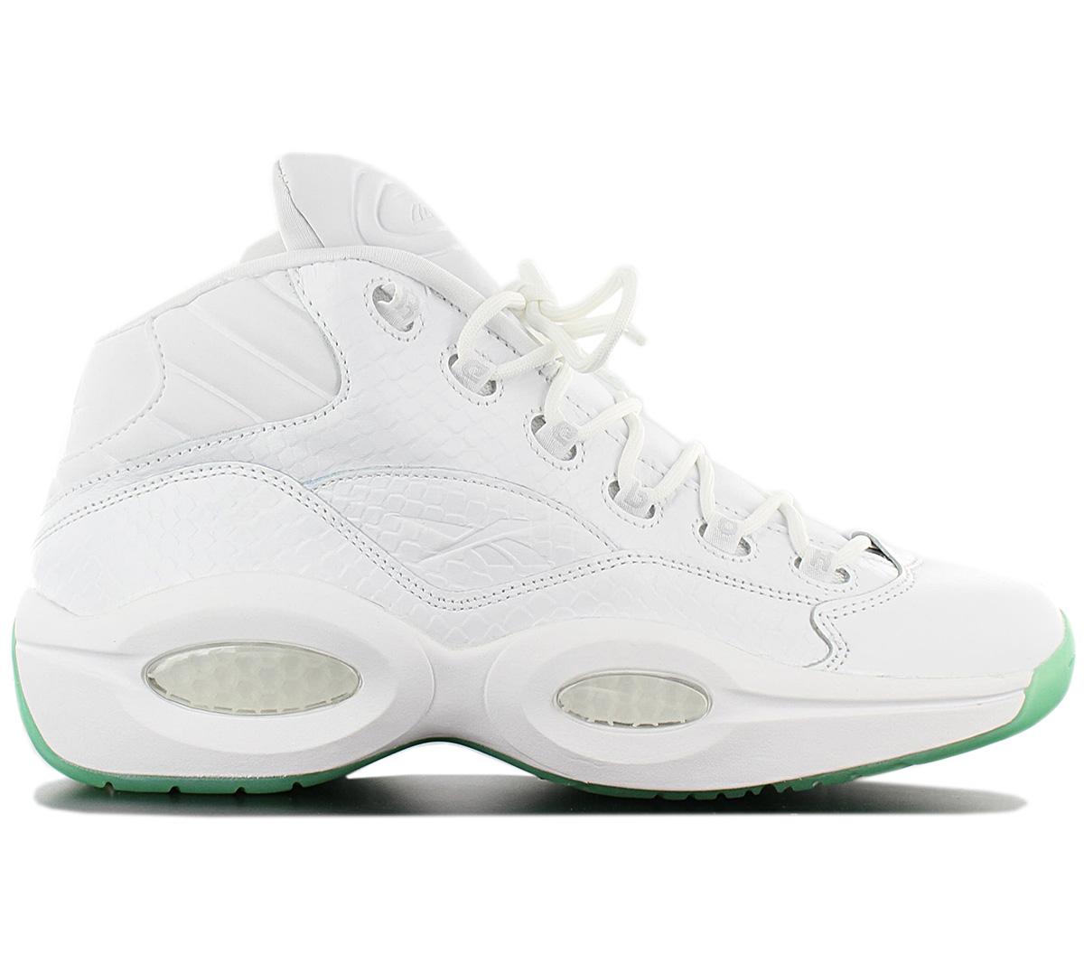 Details zu Reebok Question Mid EE Herren Sneaker CM9417 Weiß Basketballschuhe Schuhe NEU