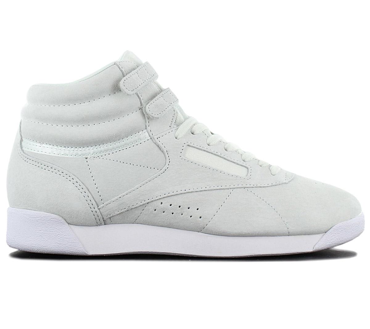 Details zu Reebok Wmns Freestyle Hi NBK Leather Damen Sneaker CN0604 Sportschuhe Schuhe NEU