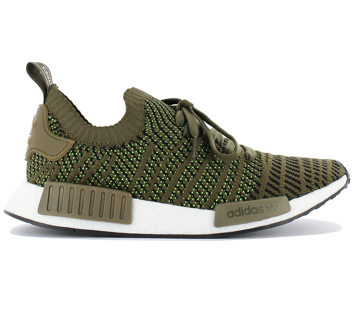 Details about Adidas Nmd R1 Stlt Pk Primeknit Men's Boost Sneaker Shoes Olive Green CQ2389 New
