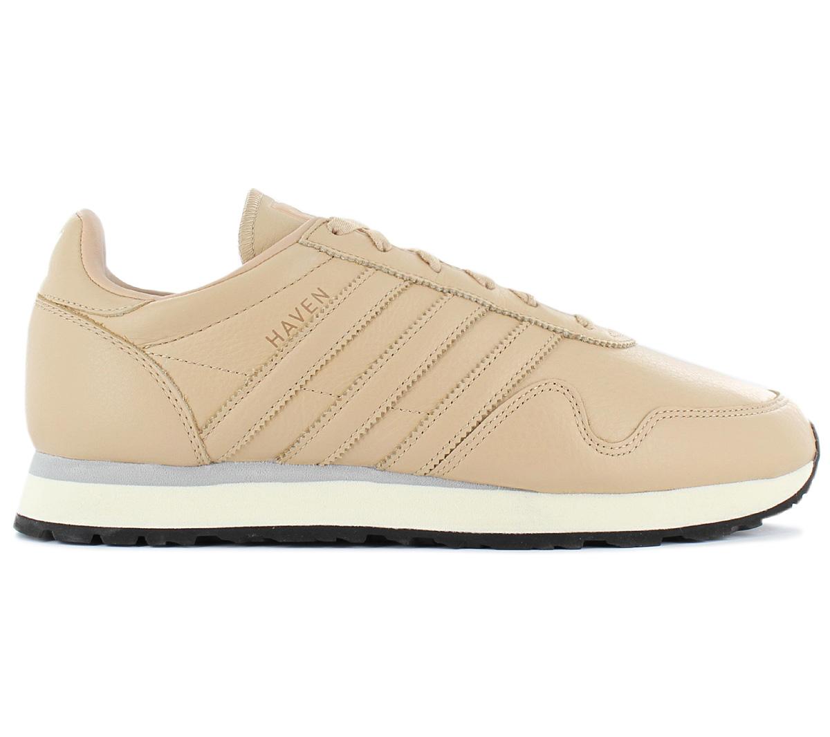 79e4edc5a8d223 Adidas Originals Haven Leather Men s Sneakers Shoes Leather Beige ...