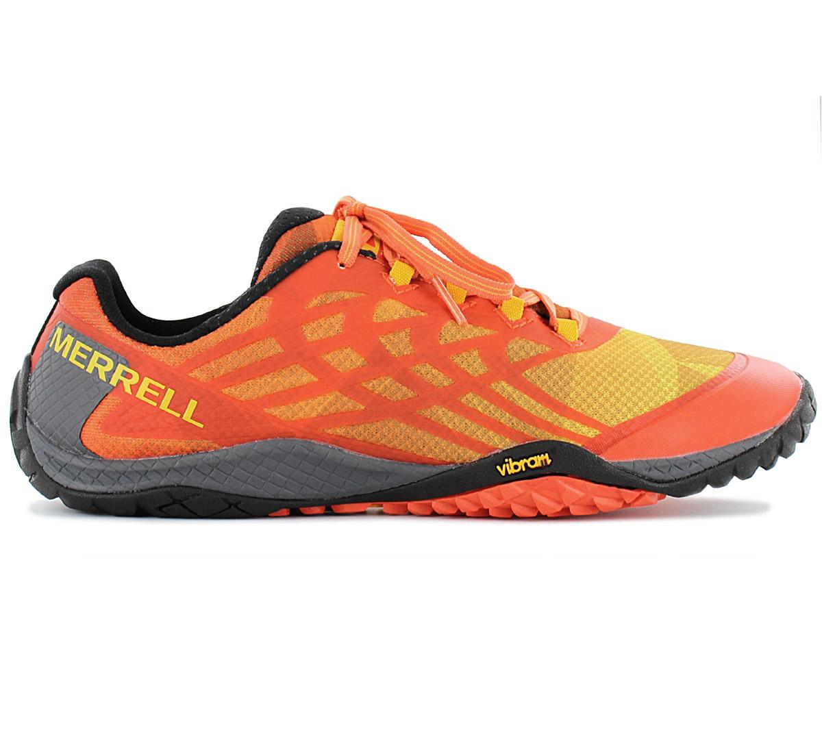 55c1438df1 Details about Merrell Trail Glove 4 Men Outdoor Barefoot Shoes J17023  Barefoot Shoes Orange