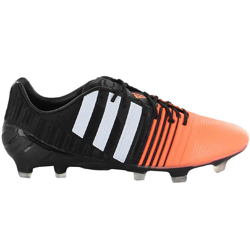 low priced a16fa 88f15 Adidas Nitrocharge 1.0 FG BLACK-ORANGE Men s Soccer Shoes Cams NEW ...