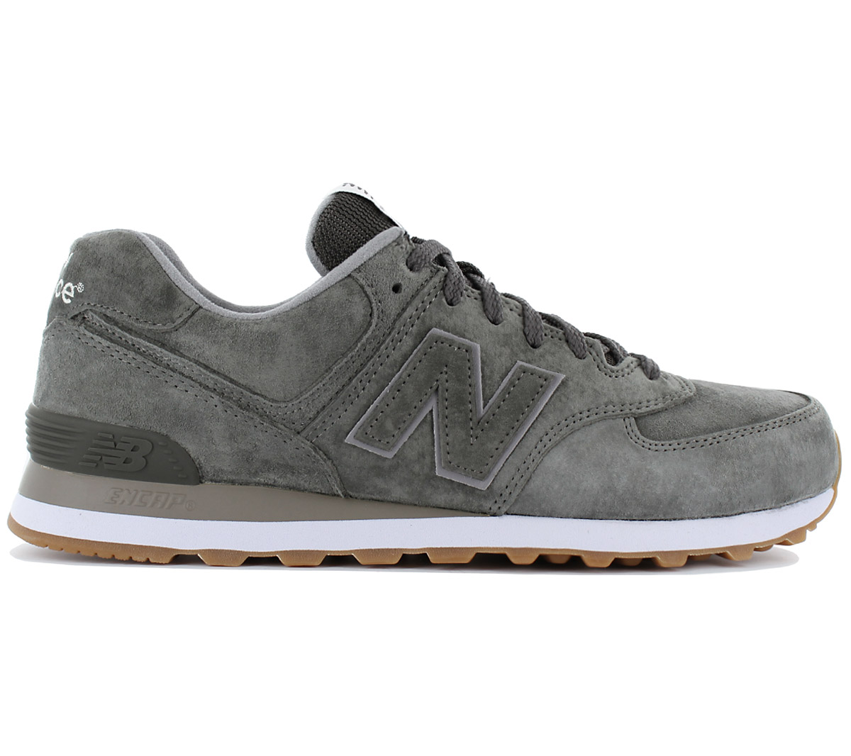 new balance classics 574 leder sneaker herren schuhe grau. Black Bedroom Furniture Sets. Home Design Ideas