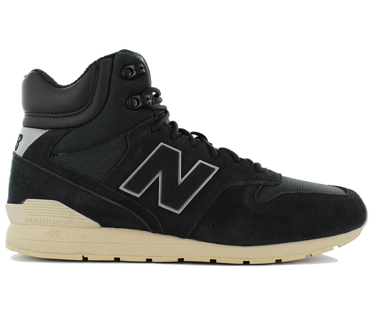 7fc51d96d24138 New Balance 996 High Sneaker Herren Leder Schuhe Schwarz MRH996BT ...