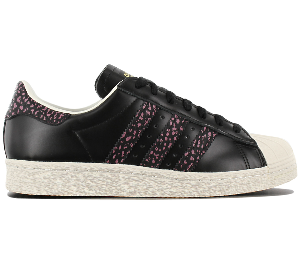 Details about Adidas Originals Superstar 80s Women's Sneaker Fashion Shoe Black Leather S75846