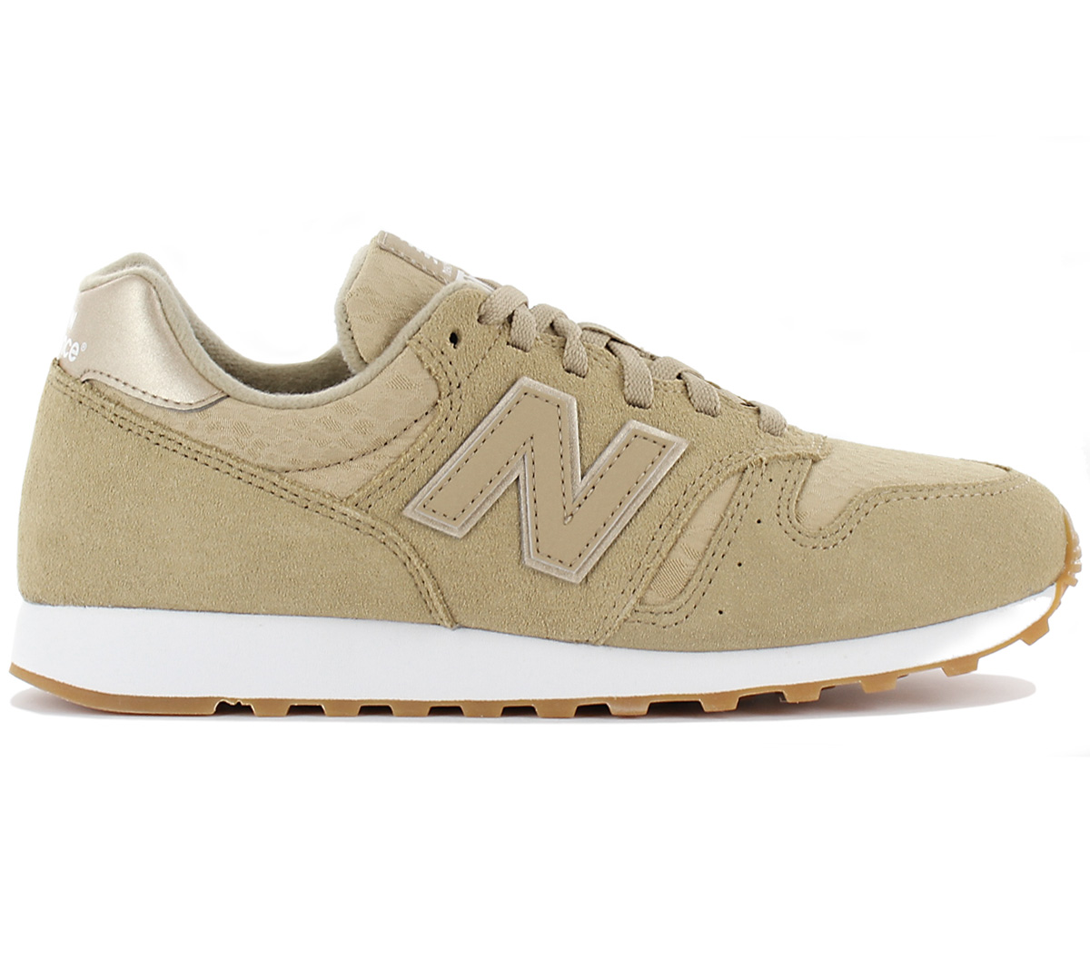 reputable site f8ec5 9ba6e Details about New Balance Classics 373 WL373OIT Women's Sneaker Beige Shoes  Shoe WL373 New