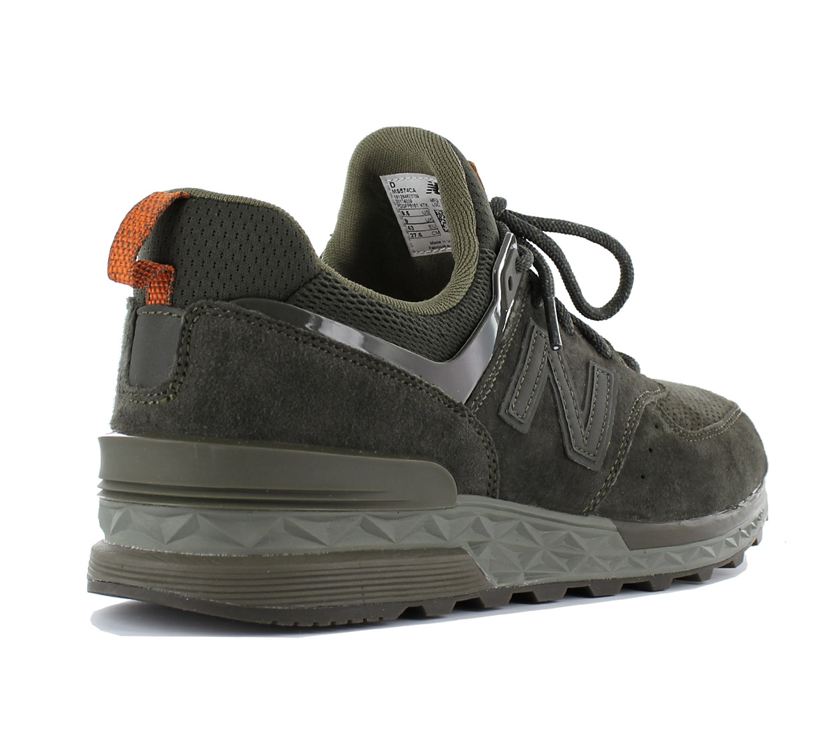 Details about NEW Balance 574 Fresh Foam Sneaker Mens Shoes Olive Green MS574CA MS574 Leather show original title