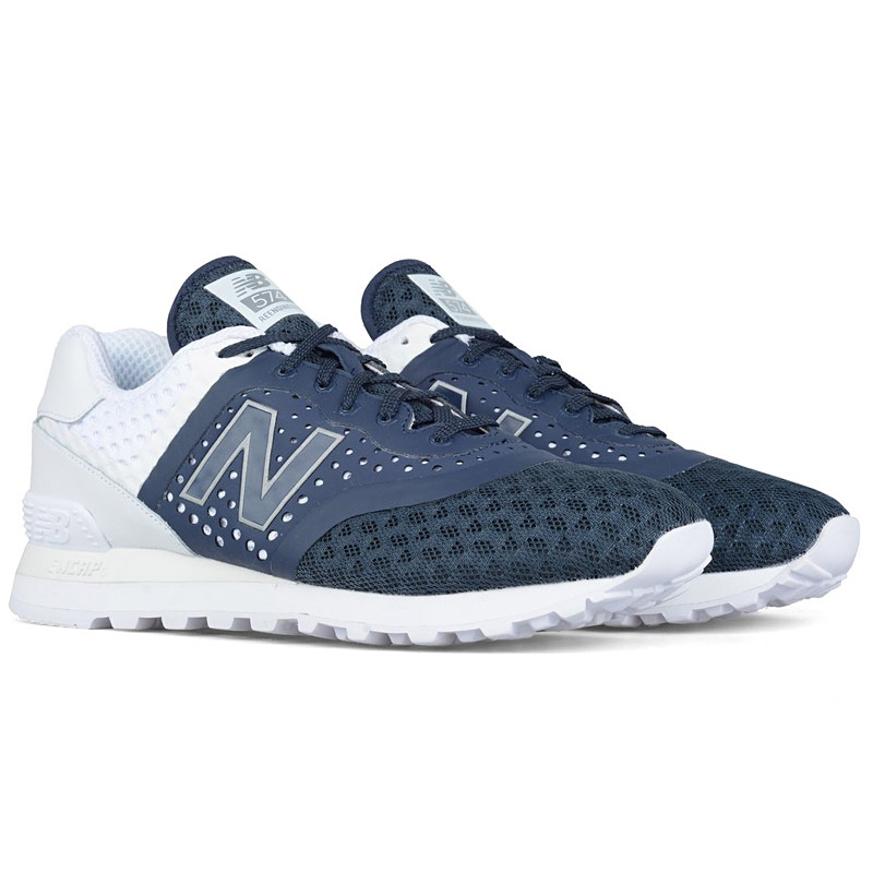 new arrival a3a54 9a3d4 new balance 574 blue and white