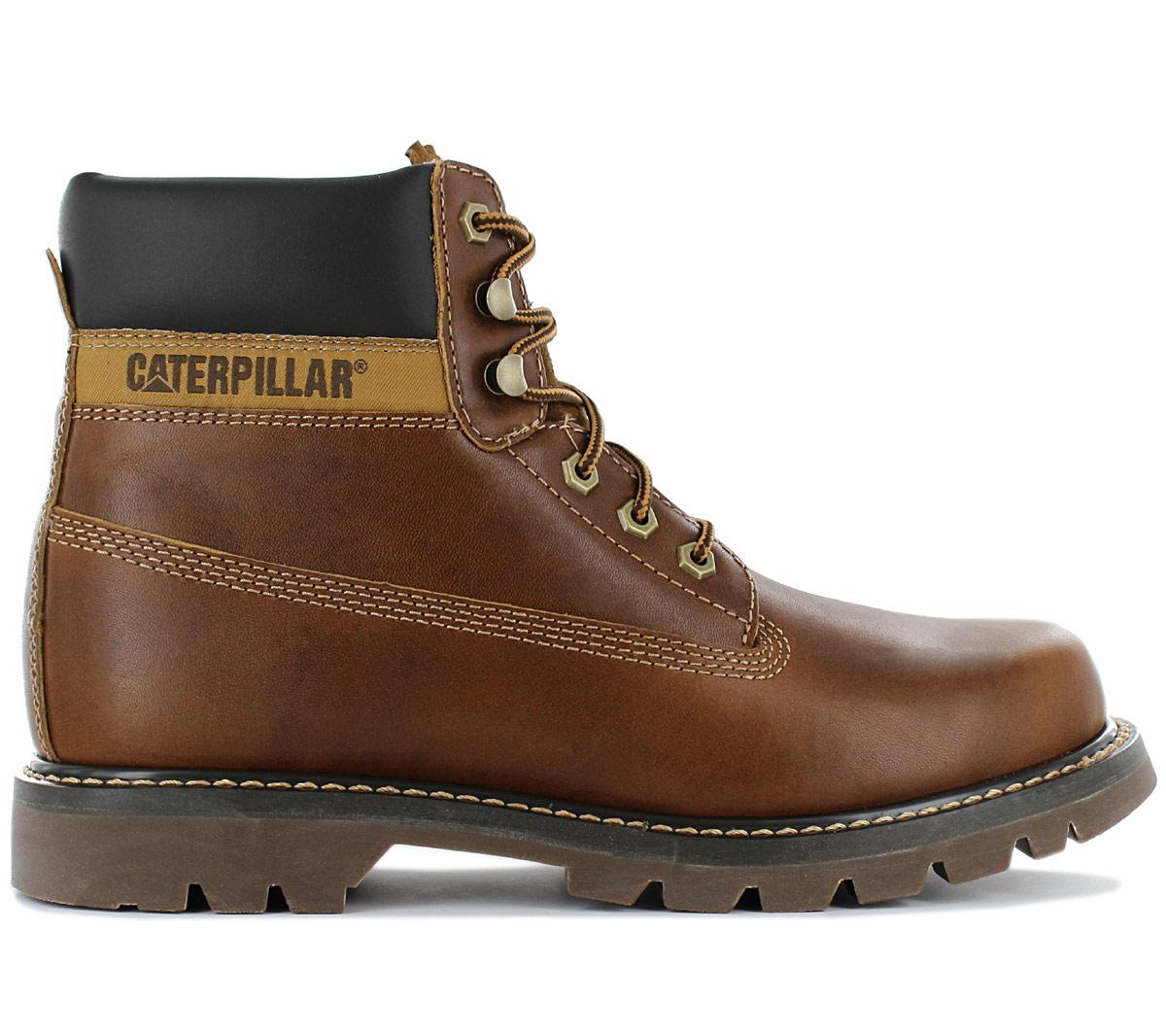 Details about Cat caterpillar Colorado Men's Boots P720263 Leather Braun Boots Winter Shoes