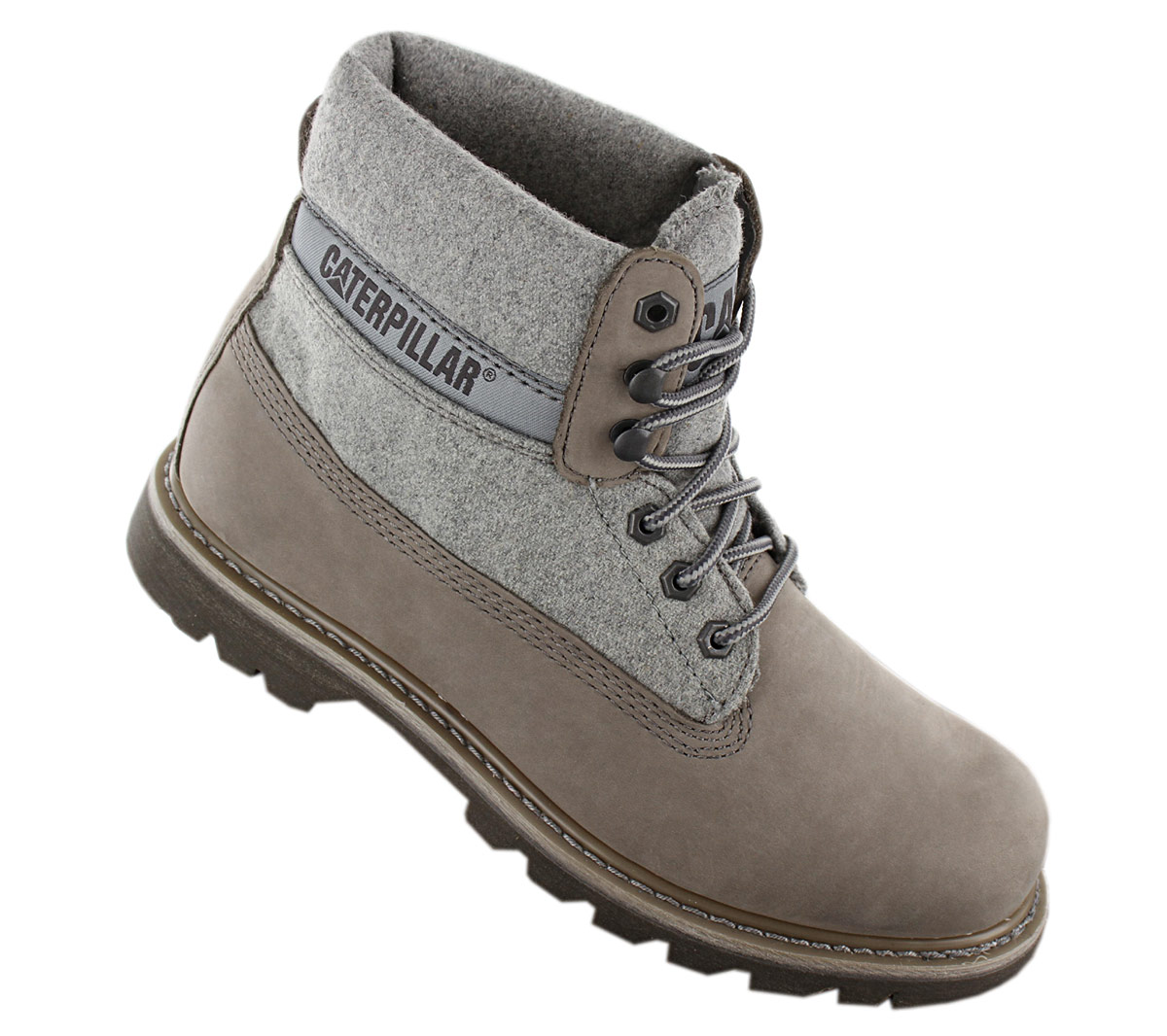 Details about Cat caterpillar Colorado Wool Men's Boots P722966 Winter Boots Leather Shoes