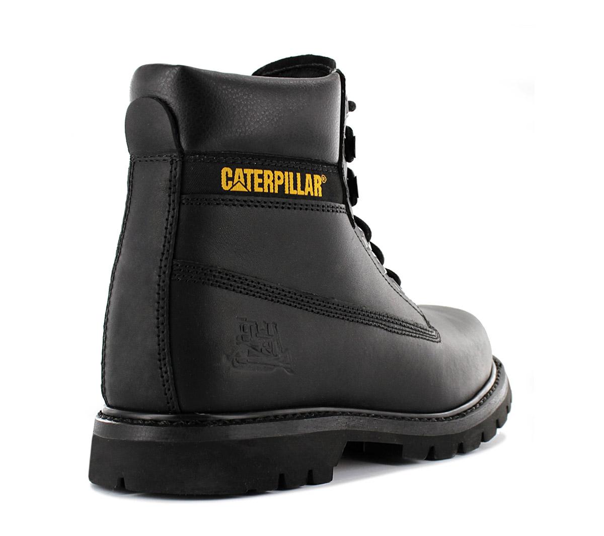 Détails sur CAT Caterpillar Colorado Messieurs boots p710652 Cuir Noir Bottes D'Hiver Chaussure afficher le titre d'origine