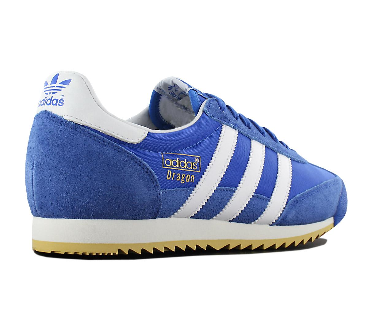 new concept 71a19 28aee Adidas Originals Dragon Vintage Men s Sneakers Shoes Blue S32087 Gym ...